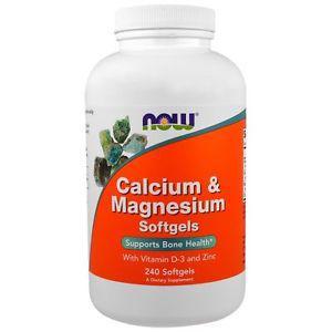 Calcium & Magnesium, with Vitamin D-3 and Zinc, 240 Softgels