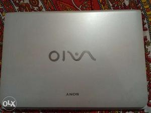 Silver Sony Vaio Laptop