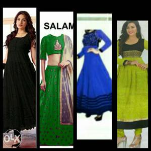 Women's Four Assorted-color Traditional Dresses