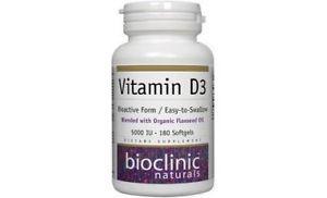 Bioclinic Naturals- Vitamin D IU 180 softgels
