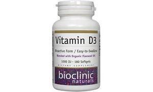 Bioclinic Naturals - Vitamin D IU 180 softgels