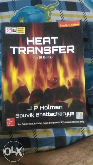 Heat transfer by J P Holman best prefered book
