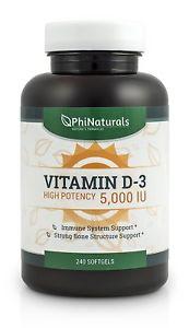 Phi Naturals Vitamin D IU Softgels, 240