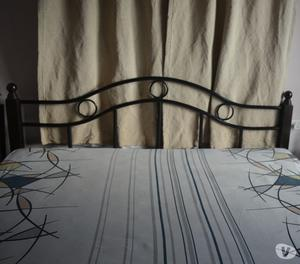 Teal wood wrought iron 6x7 bed Pune