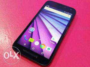 Moto G3. Mint condition. Nice Backup. With Box