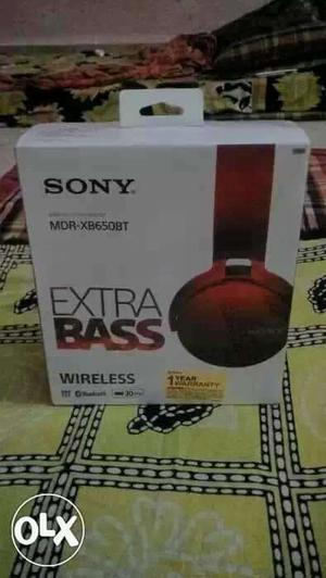 New sony mdr-xb650bt extra bass wireless headphone সিল