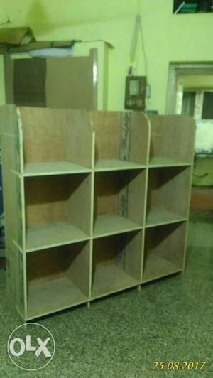 New made ply wood cupboard 5x5 ft 9 racks