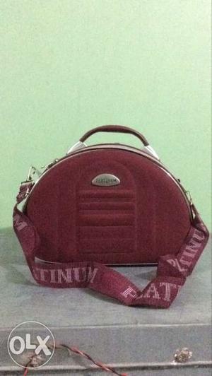 Platinum Red Vanity Makeup Bag with Numbers Lock