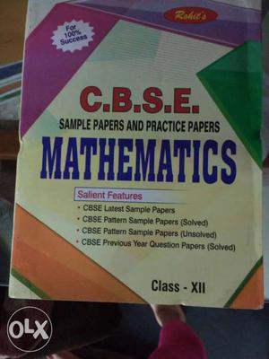 Unused Rohit's 12th CBSE Maths Sample papers and