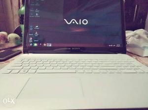 Black And White Sony Vaio Laptop Computer