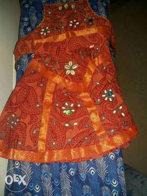 Brand new baby girl ethnic wear. suitable for 12-