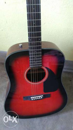 Fender CD 60 Sunburst Acoustic Guitar. Almost