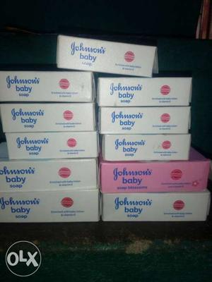 Pile Of Johnson's Baby Soaps