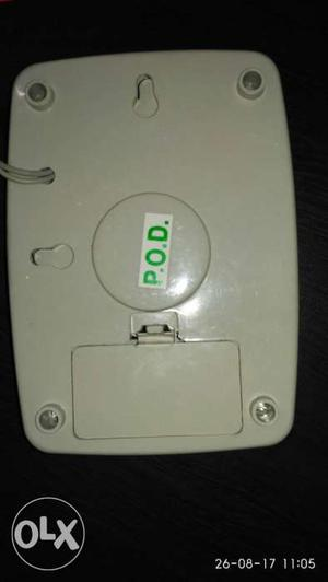 White Electronic Device, Musical calling bell, not used at
