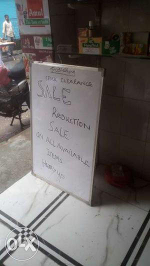 White board with duster n marker at cheap rate