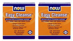 2-Pack Of Easy Cleanse (2 Bottles 60 Vcaps Each), Now Foods,