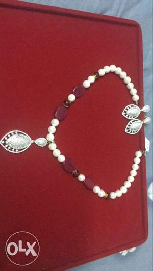 AD set with ruby pearl mala.AD quality is best