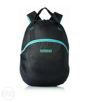 Black And Teal American Tourister Backpack