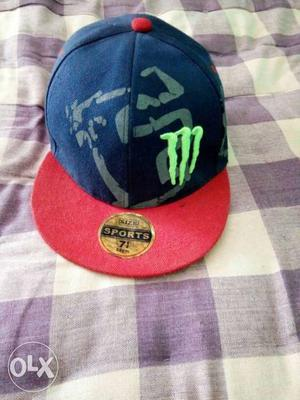 Blue And Red Monster Energy Cap