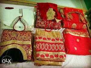 Six Assorted Traditional Dresses One time used party wear