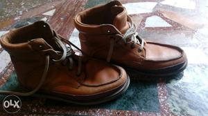 Woodland brand mid top leather shoes originsl