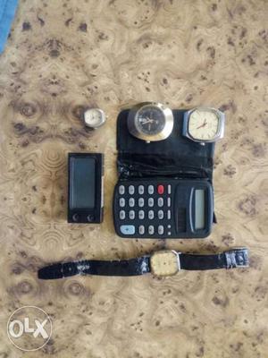 Wrist watch,calculator,car watch ok hai sirf servicing ki