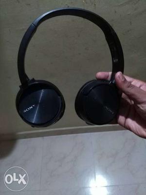 Black Sony Wireless Headphone