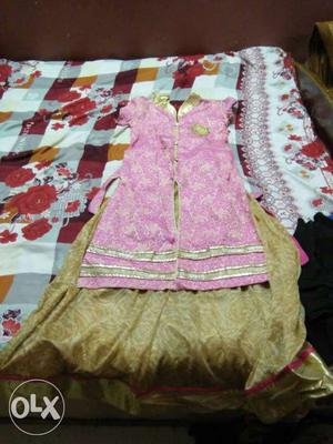 Brand new lehnga with kurti for girls age of 12