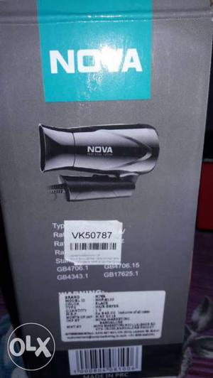 Nova Hair Dryer And Nova Hair Brush Straightner