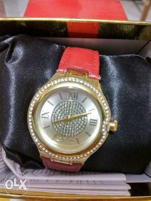 Swaroski embedded watches for women with big