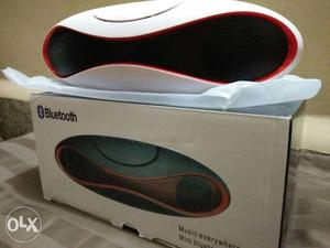 White And Black Bluetooth Speaker With Box