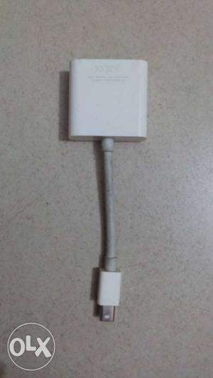White HDMI To Micro-USB Adapter