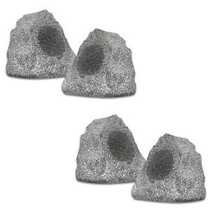 (set of 4) of New Outdoor Garden Waterproof Granite Rock