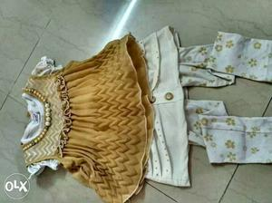 Kids clothes beautiful 3 pc dress for kids upto 3