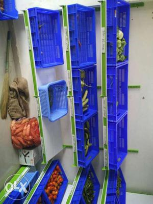 Blue Plastic Trays