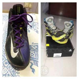 Both Adidas + nike basketball shoes 1 week used only