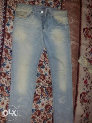 Diesel Thavar jeans 1 time used jeans 100%in