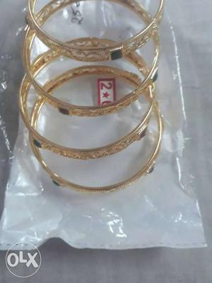 Gold Link Bangle Bracelets
