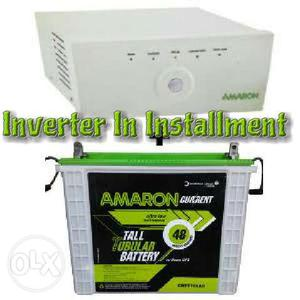 Amaron inverter and battery in monthly