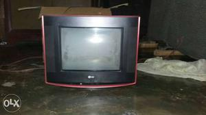 Black And Red LG CRT Television