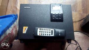 Black Intex Audio Component And Black Remote