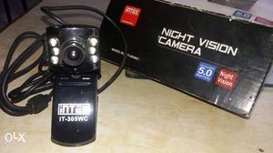 Black Intex Night Vision web Camera