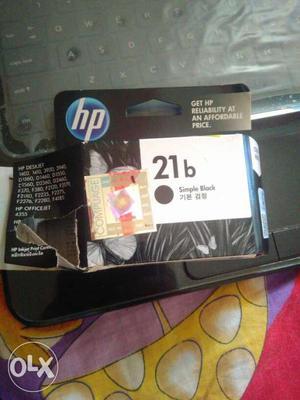 HP Black Ink Cartridge Box of  series.