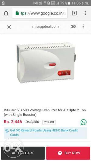 White V-guard Voltage Stabilizer Screenshot