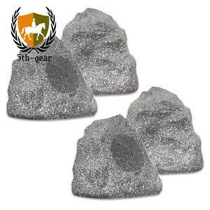 (set of 4) New Outdoor Garden Waterproof Granite Rock Patio
