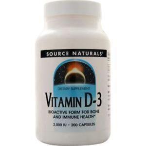 Source Naturals Vitamin D-IU) 200 caps