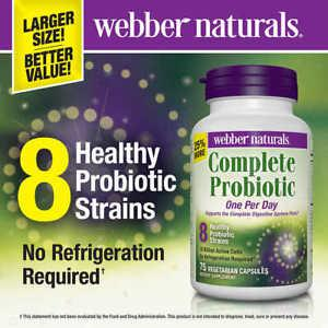 webber naturals Complete Probiotic, 75 Vegetarian Capsules
