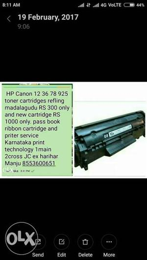 12a 88a 36a toner cartridge new cartridge RS 800