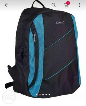 Black And Teal Zwart Backpack