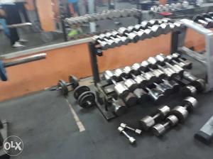 Gym set up for sale with warranty 6 lac